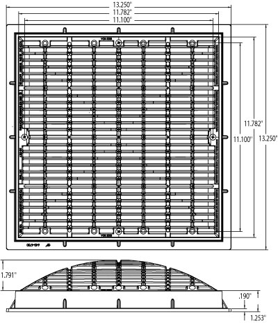 Standard grates covers for 12 x 12 floor drain grate