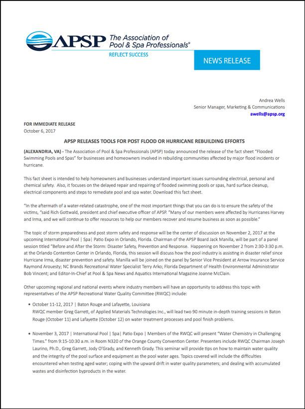 APSP_News-Release_10-6-17